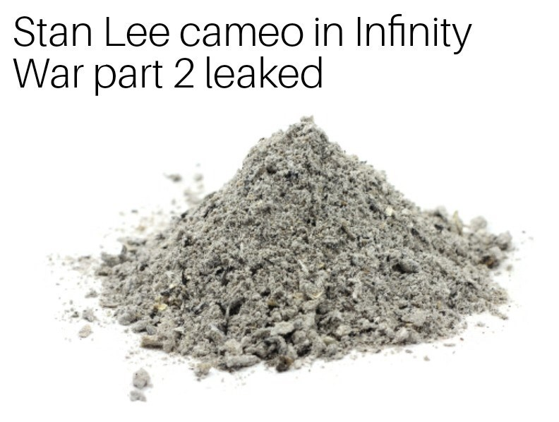 Powder - Stan Lee cameo in Infinity War part 2 leaked