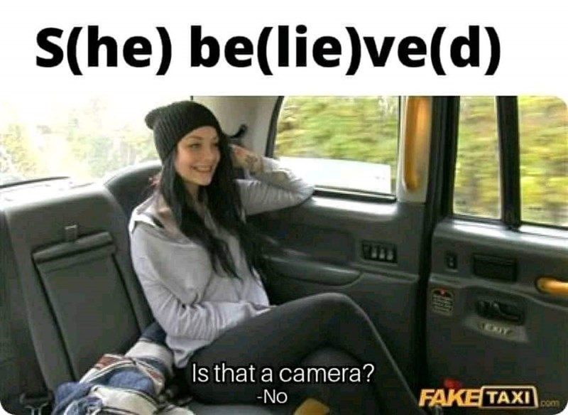 Vehicle door - S(he) be(lie)ve(d) Is that a camera? FAKE TAXI No Com