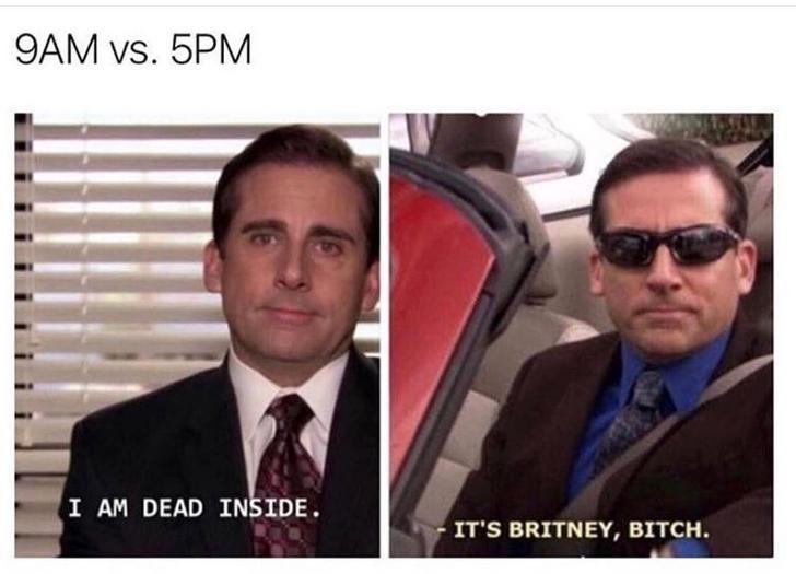 Eyewear - 9AM vs. 5PM I AM DEAD INSIDE. IT'S BRITNEY, BITCH