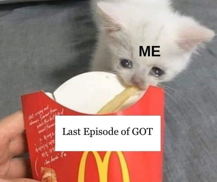 Funny meme about game of throens finale.
