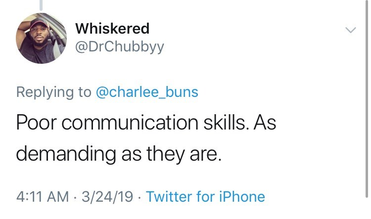 twitter post about newborn babies Poor communication skills. As demanding as they are. 4:11 AM 3/24/19 Twitter for iPhone