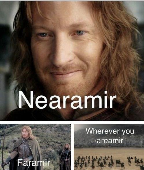 music meme - Hair - Nearamir Wherever you areamir Faramir