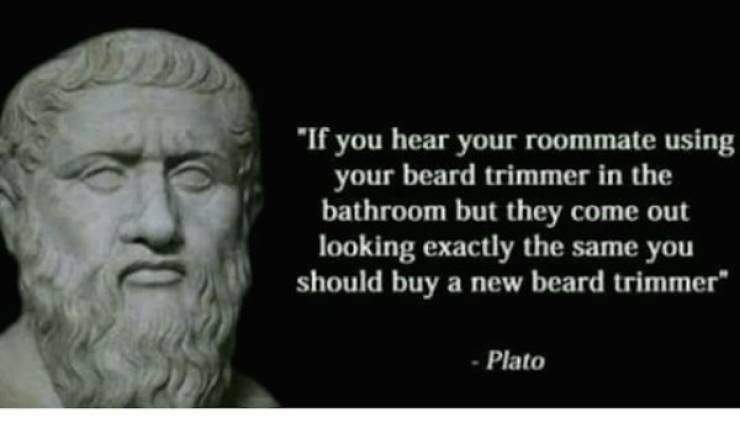 Text - If you hear your roommate using your beard trimmer in the bathroom but they come out looking exactly the same you should buy a new beard trimmer Plato