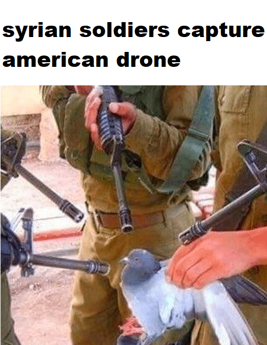 syrian soldiers capture american drone