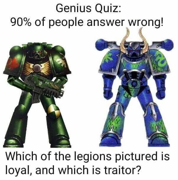 Action figure - Genius Quiz: 90% of people answer wrong! Which of the legions pictured is loyal, and which is traitor?