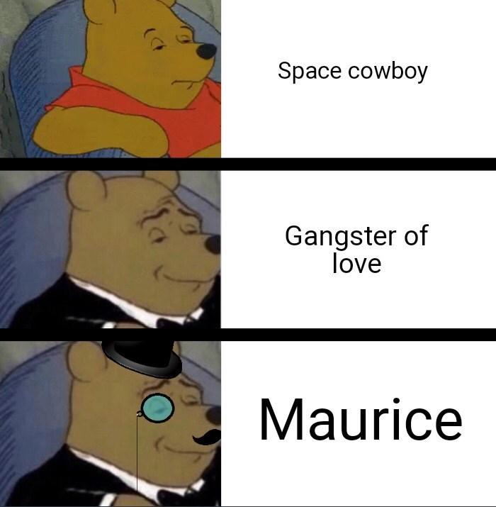 Cartoon - Space cowboy Gangster of love Maurice
