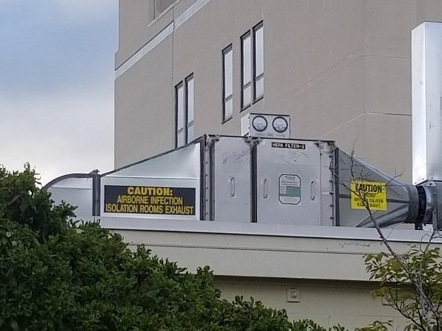 Property - AUTION CAUTION AIRBORNE INFECTION SOLATION ROOMS EXHAUST