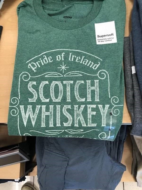 Clothing - #ONDHA Supersoft Extremely soft tor aday comfort Ireland Pride of SCOTCH WHISKEY