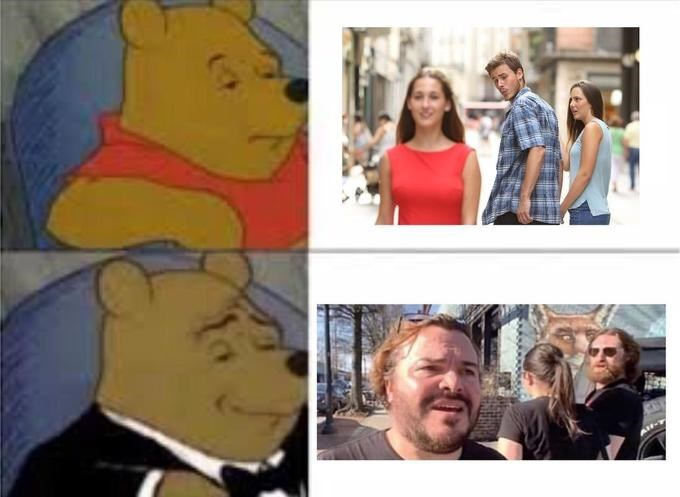 tuxedo winnie pooh - Facial expression