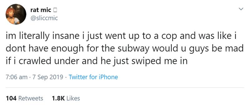 Subway tweets