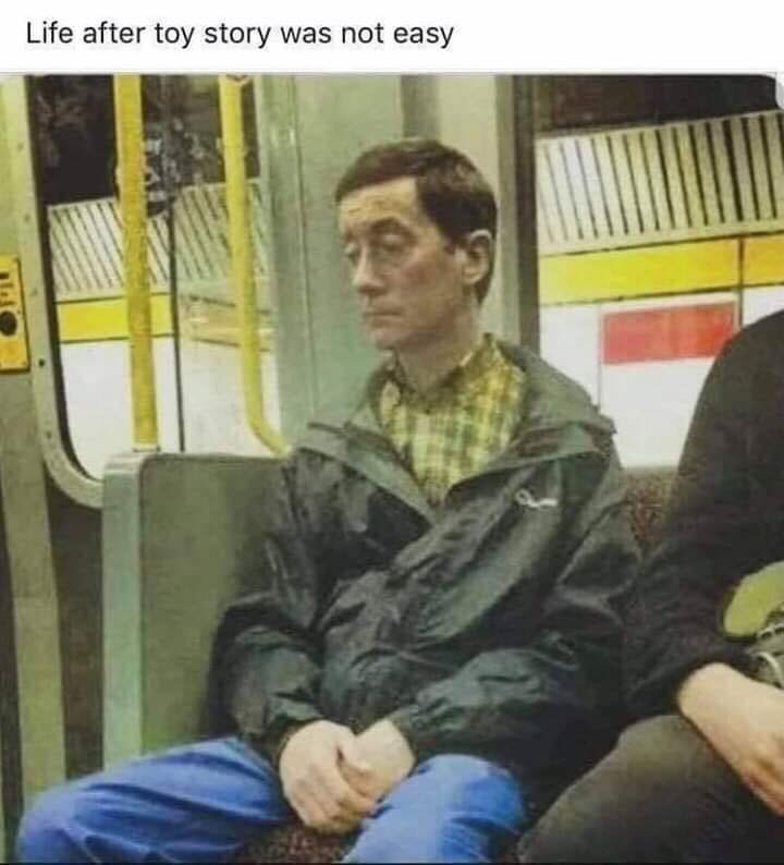 Sitting - Life after toy story was not easy
