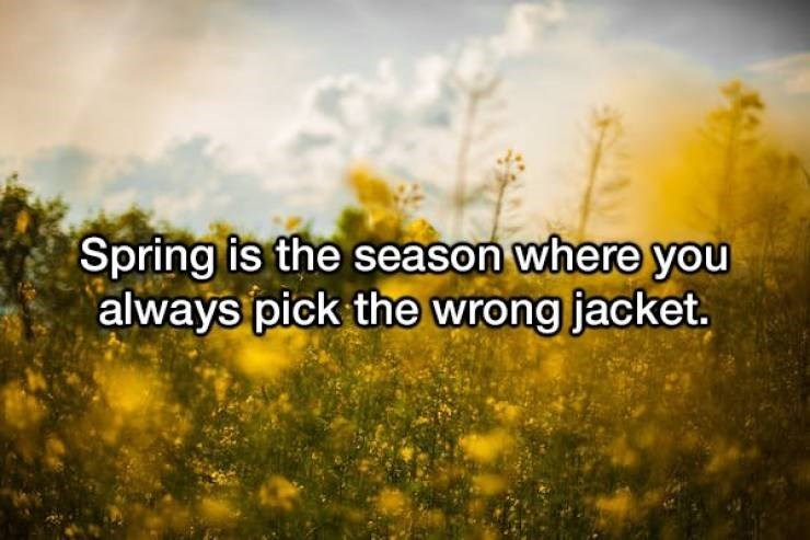 People in nature - Spring is the season where you always pick the wrong jacket.