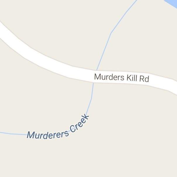Text - Murders Kill Rd Murderers Creek