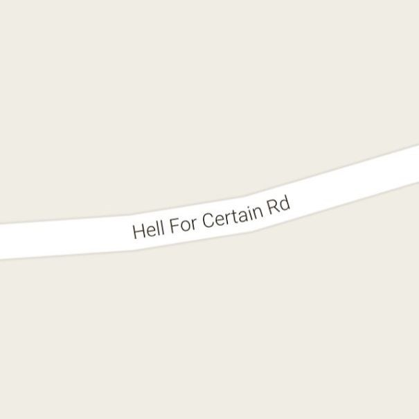 Text - Hell For Certain Rd