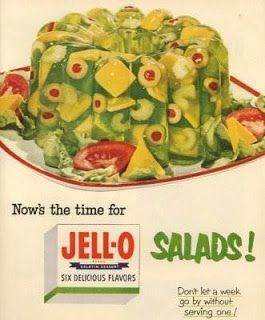 Food - Nows the time for JELL-O SALADS! SIX DELICIOUS FLAVORS Dont let a week go by without serving one