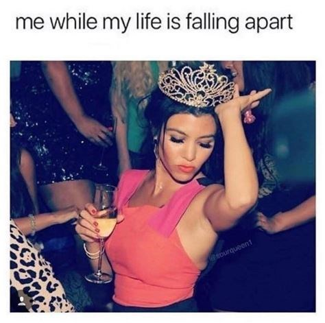 Headpiece - me while my life is falling apart sourqueent