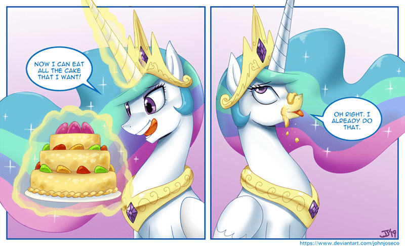 cake the beginning of the end john joseco princess celestia - 9291596800