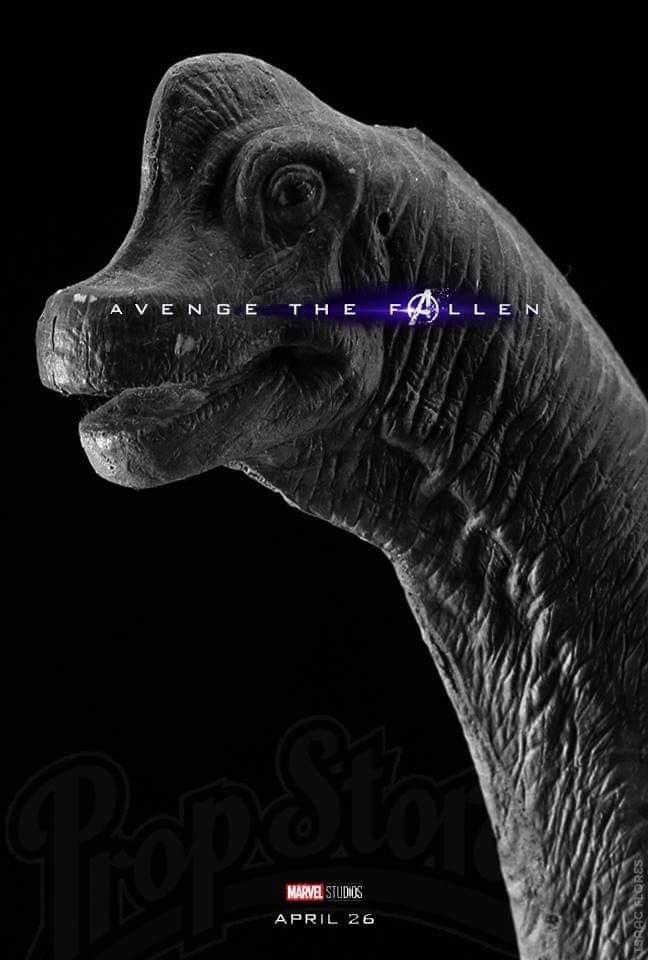 Dinosaur - A VEN GE THE LLEN MARVEL STUDIOS APRIL 26 TSRAC ORES