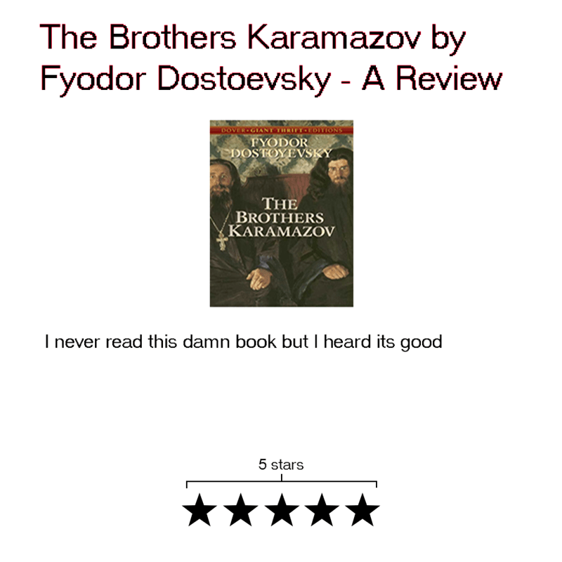 Text - The Brothers Karamazov by Fyodor Dostoevsky - A Review DOVER GIANT TRITOLOITIONS FYODOR DOSTOYEVSKY THE BROTHERS KARAMAZOV I never read this damn book but I heard its good 5 stars