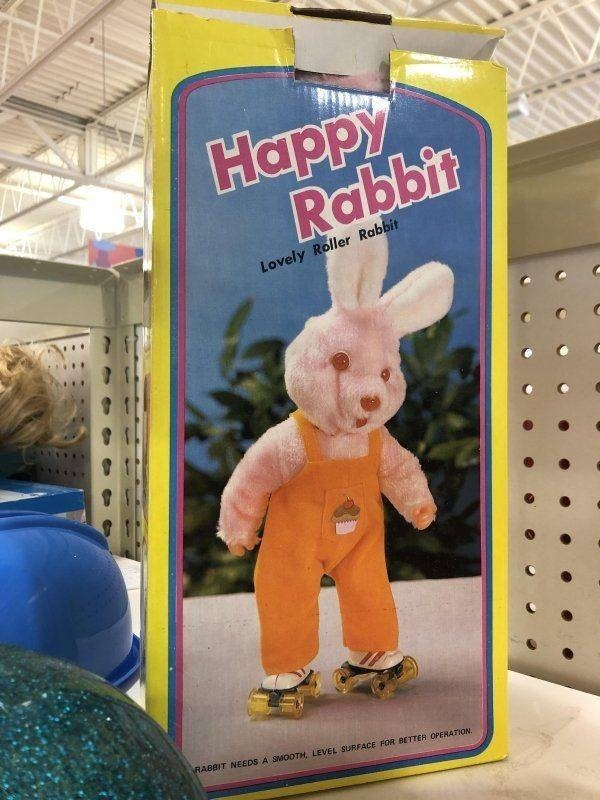 Cartoon - Нарру Rabbit Lovely Roller Rabbit RABBIT NEEDS A SMOOTH, LEVEL SURFACE FOR BETTER OPERATION