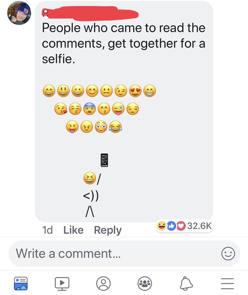 Text - nu People who came to read the comments, get together for a selfie AA 00 AA A A <)) A 32.6K 1d Like Reply Write a comment...