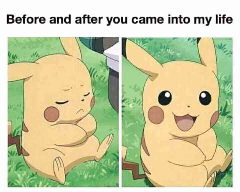 Cartoon - Before and after you came into my life