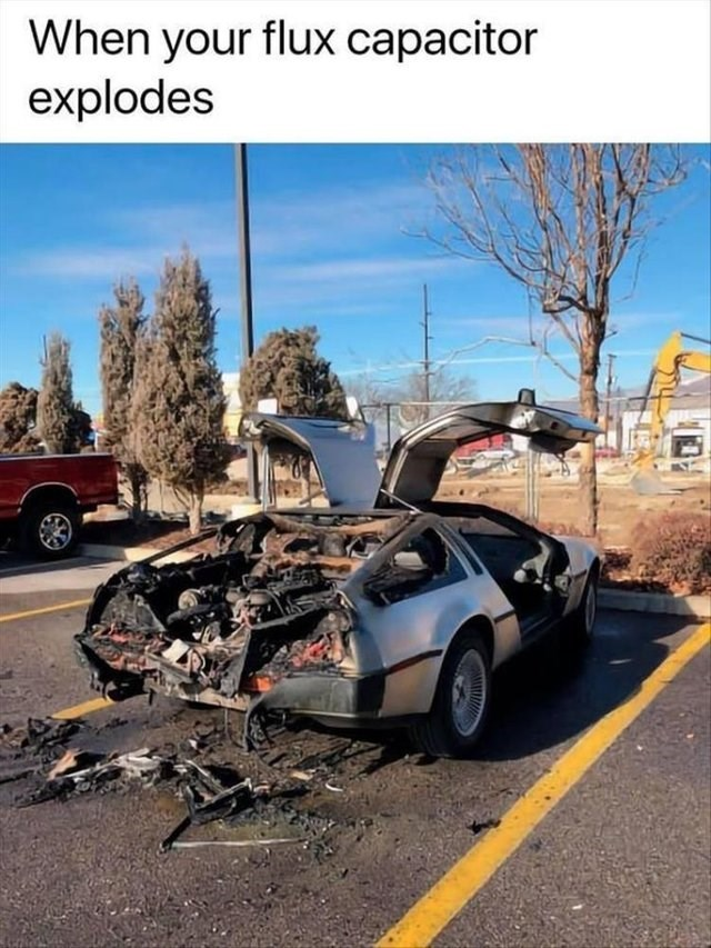 Motor vehicle - When your flux capacitor explodes