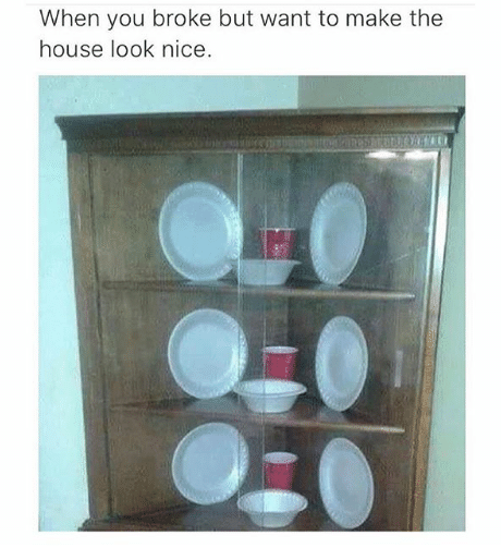 poor meme - Product - When you broke but want to make the house look nice.
