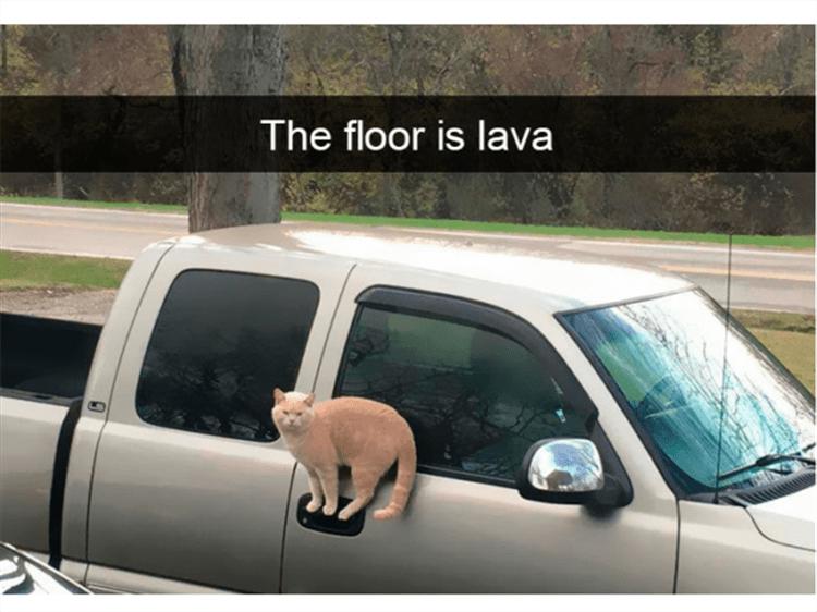 Land vehicle - The floor is lava