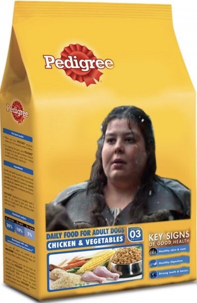 Breakfast cereal - Pedigree Pedigree 20% 10% % DAILY FOOD FOR ADULT DOGS CHICKEN &VEGETABLES 03 KEY SIGNS OF GOOD HEALTH Mey skin & d n Sreng teeth be