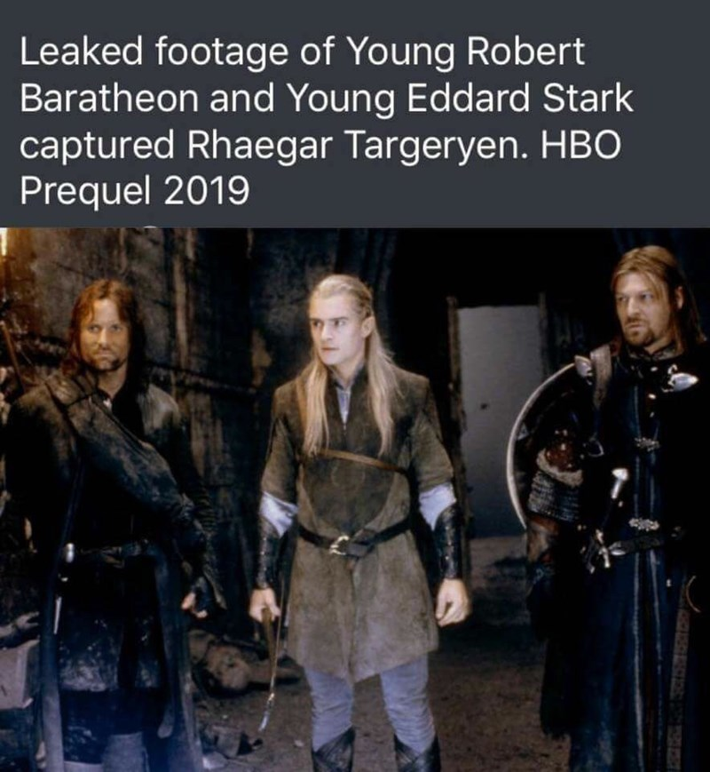 Fictional character - Leaked footage of Young Robert Baratheon and Young Eddard Stark captured Rhaegar Targeryen. HBO Prequel 2019
