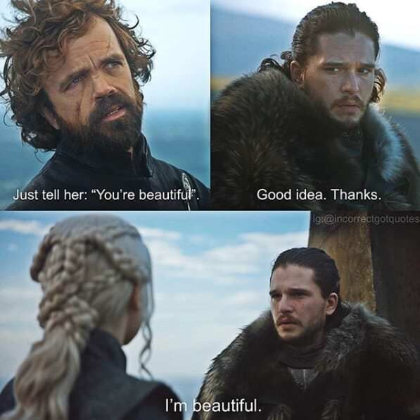 """Hair - Just tell her: """"You're beautiful Good idea. Thanks. ig@incorrectgotquotes I'm beautiful."""
