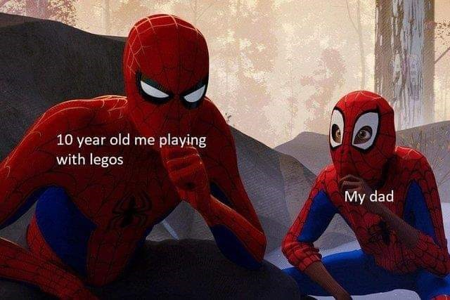 Spider-man - 10 year old me playing with legos My dad