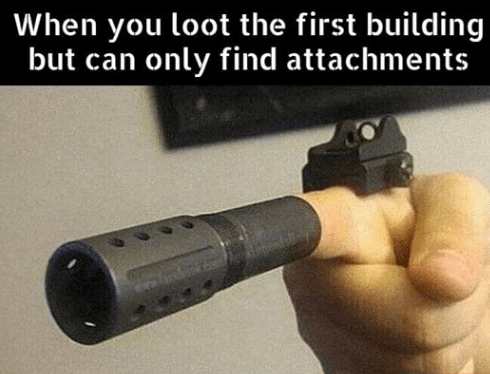 Gun - When you loot the first building but can only find attachments www.orss