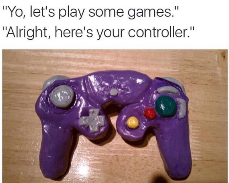"""Game controller - """"Yo, let's play some games."""" """"Alright, here's your controller."""""""
