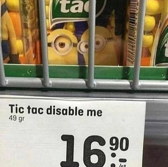 Grocery store - ta Tic tac disable me 49 gr 1690