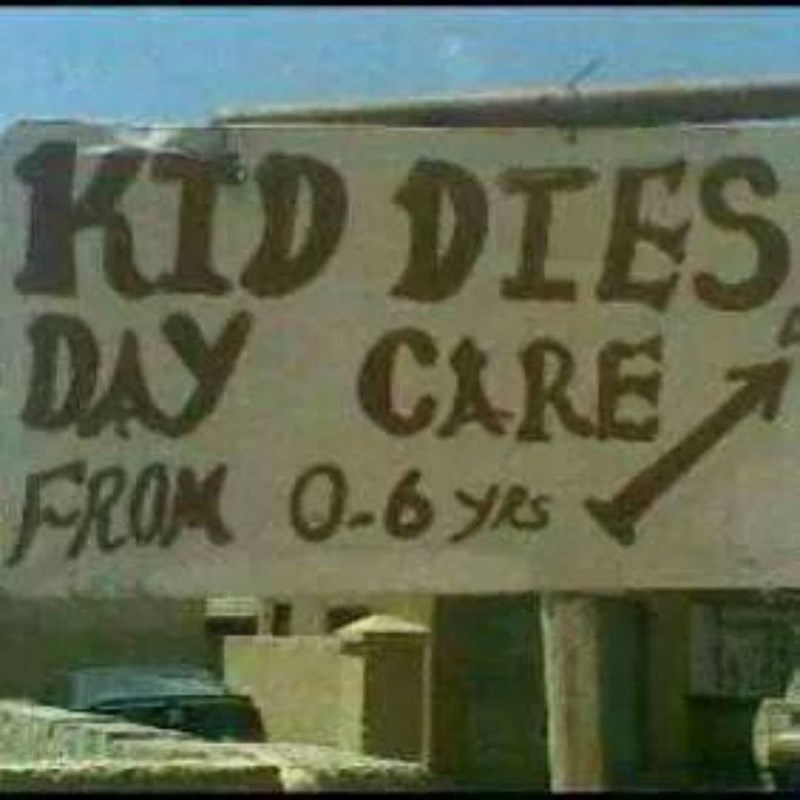 Font - KID DIES DAY CARE FROK 0-6s