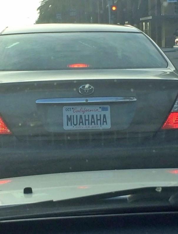 Vehicle registration plate - OCT California MUAHAHA dmy.c aev