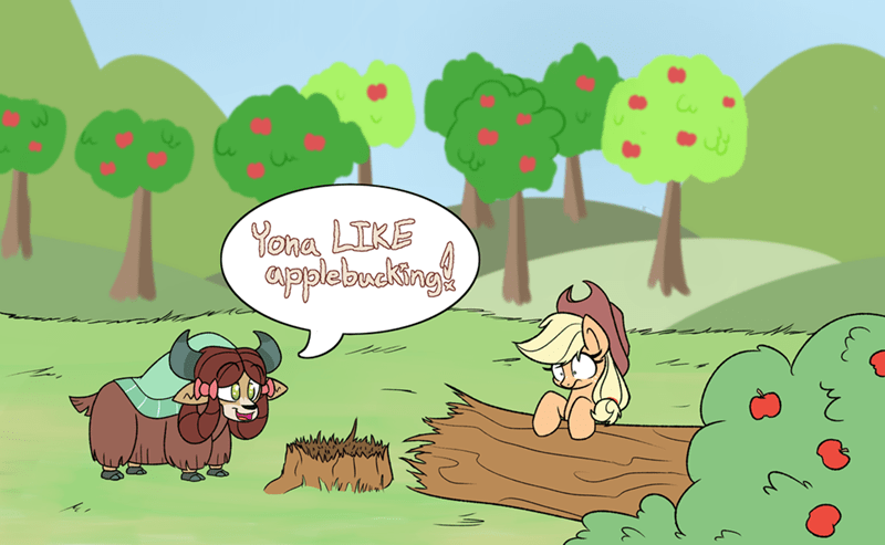 applejack yaks yona heir of rick - 9293160192