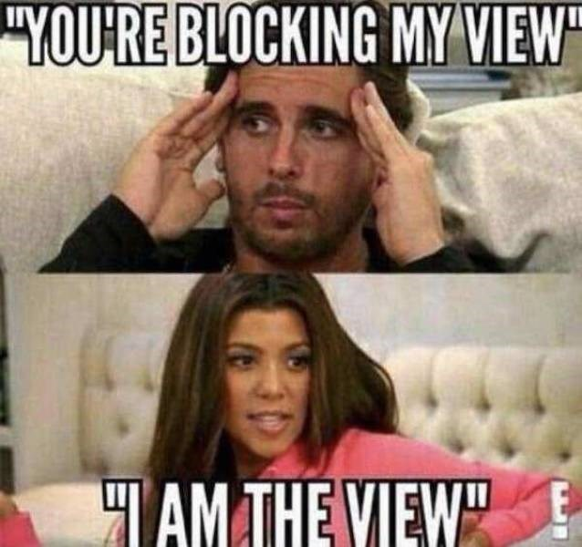 """Internet meme - """"YOURE BLOCKING MY VIEW TAMTHE VIEW"""""""