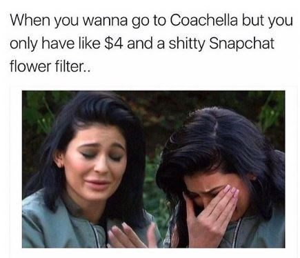 Kylie Jenner crying because she can't afford to go to Coachella