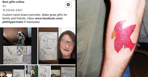 Funny pics of delusional artists asking for money for cringey and bad art.