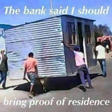 meme - Transport - The bank said should bring proof of residence