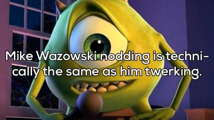 Shower thought about Mike Wazowski from Monsters Inc twerking