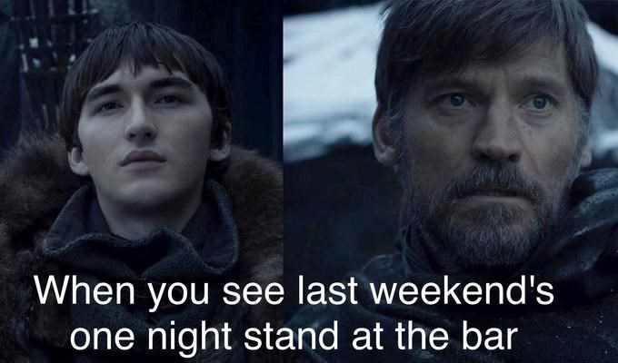 GoT meme about Jaime seeing Bran survived getting pushed out a window