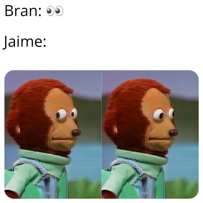 GoT meme about Jaime as the puppet monkey