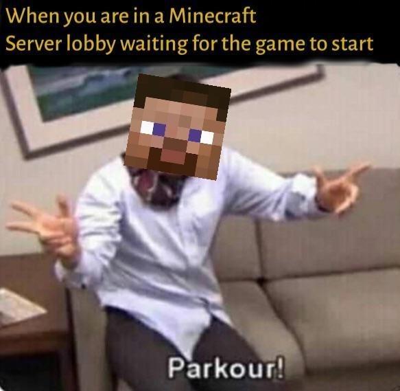 minecraft server the office michael scott parkour meme