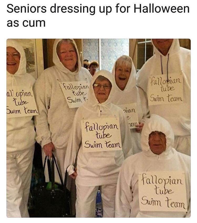 People - Seniors dressing up for Halloween as cum fallobian tube Fallopian Δωpon Tuhe Owm team tube Swin team Suim ian fallopian tube Swim team fallopian tube Sum team
