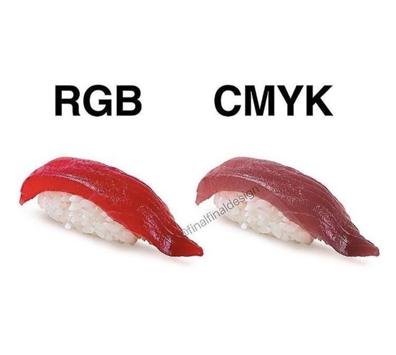 Sushi - RGB CMYK ofinalfinaldesign
