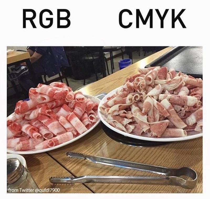 Food - RGB CMYK from Twitter @qufdl7900